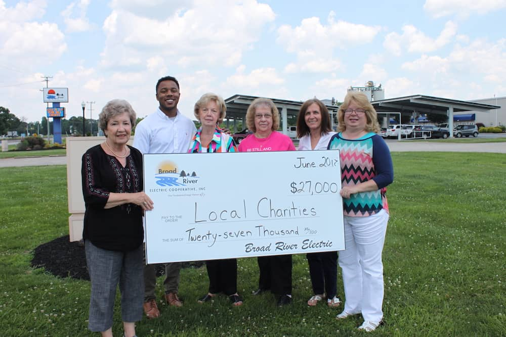 Broad River Electric Charities donates $27,000