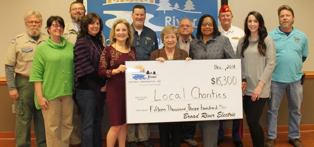 Broad River Electric donates to 17 local charities