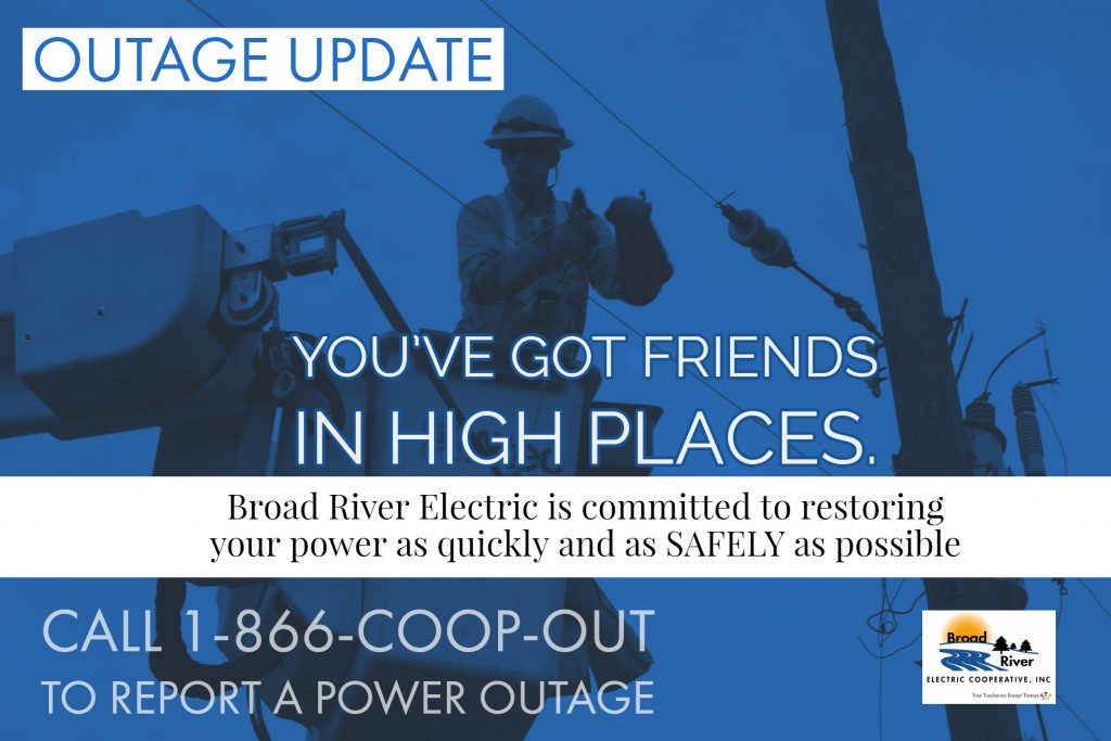 Outage Update Broad River Electric Cooperative Inc