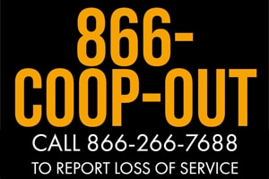 Call 866-266-7688 to report an outage.