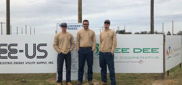 BRE linemen in SC Rodeo