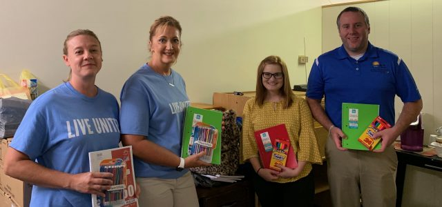 Broad River employees participate in school supply drive