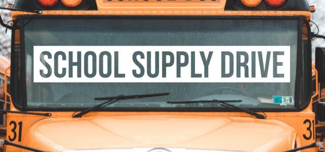 Join our school supply drive