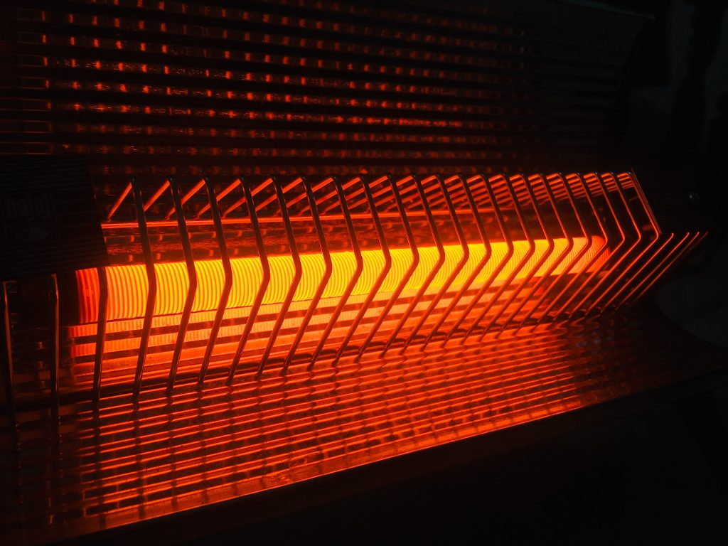 Electric Space Heater Closeup
