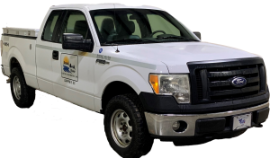 2011 White Ford F-150 pickup truck with Extended cab and 4 wheel drive