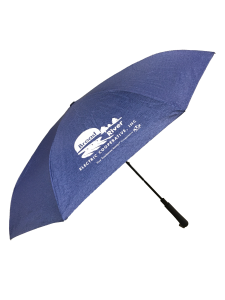 large blue reverse opening umbrella